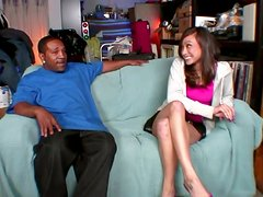 Beautiful Ariel Rose gets her tight pussy fucked by Black guy