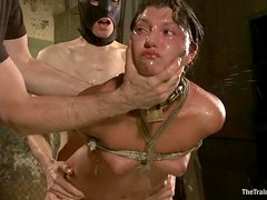 Slender Cassandra Nix gets bounded and fucked rough