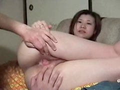 Asian moans from vagina licking fun