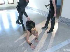 Dylan and her friend get tied up and whipped in BDSM scene