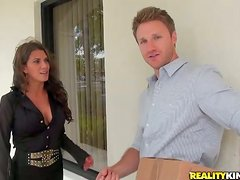 Beautiful and Sexy MILF Leena Sky Getting Fucked on Black Couch