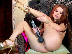 Sabrina Maree enjoys her toy