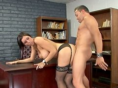 Luscious cougar Dylan Ryder fucks Pike Nelson in her office