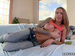 Hot Tattooed Bombshell Juelz Ventura Gets Anal Toyed and Pussy Fucked