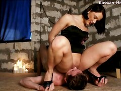 Sexy smothering session with Russian mistress