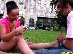 Liza Del Sierra licks a cock and gets stunningly fucked in many poses