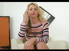Blonde bitch gets a hardcore fucking delivered by some dude