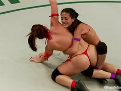 Lesbians Know Hot To Wrestle, No Doubt About It!