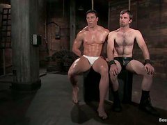 Mutual Bondage Action and Sex in Gay BDSM Porn Video