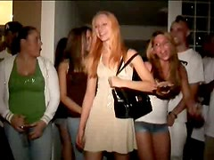 College drunk girls are ready to serve all fellows around