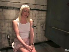 Blonde Submitted To Harsh Sexual Torture In A Derelict Building!