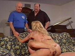 Blonde and two big fat pricks!