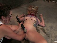 Selina gets her ass beaten and her cunt licked in BDSM clip