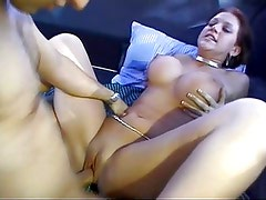 hot big breasted girl bangin in a van