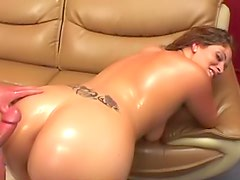 Curvy oiled up hardcore slut