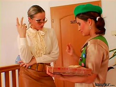 Young lady submits to lesbian hottie
