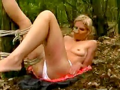 Slave abused in the woods