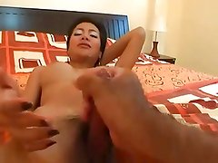 Ladyboy Gets Milked by Dude
