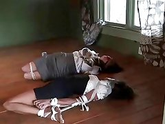 two women hogtied