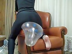 Balloon riding on armchair