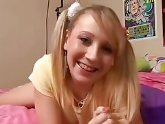 Solo #21 (Blonde Teen with Braces & Pigtails talking Dirty)