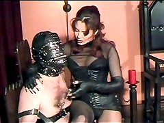 Mistress Torments His Nipples, Cock And Balls!!!!!!!