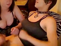 emo trans gets blown by chubby bitch