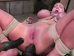 Hard Time for a Busty SlaveGirl (1on2) OtO