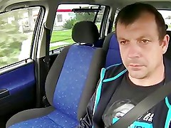 Blonde hooker fucked in  car English subs