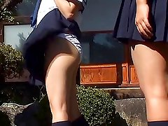 softcore asian schoolgirl panty flash tease