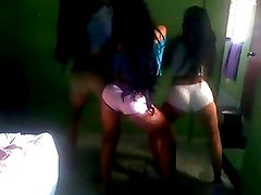 three Latina (Colombian) dancing very hot