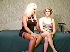 Mature blonde Jan introduce Linda to BBC
