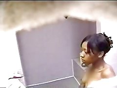 Hot Black Teen Taking A Shower - Hidden