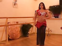 Alla Kushnir gives sexy Belly Dance Lessons part 2