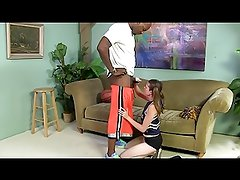 White Cheerleader takes the Black Cock