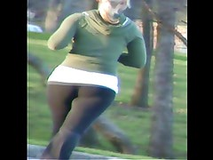 Blonde Jogger(Whooty Pawg Spandex Ass)