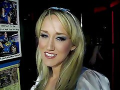 Alana Evans in a sexy Alice costume
