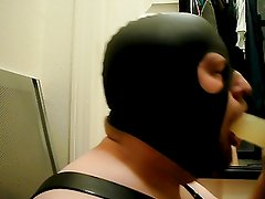 Gag and Choke on Dildo