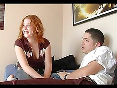 Hairy Redhead Cherry Fucked And Facialed