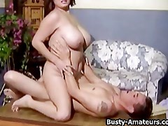 Busty Helena Fucking Two Cocks