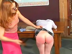 Schoolgirl ass caned until it bruises
