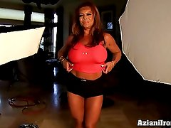 Aziani Iron DD Mature Female bodybuilder with big clit