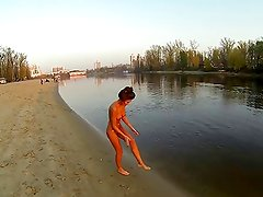 Ukrainian girl Innuska nude on beach