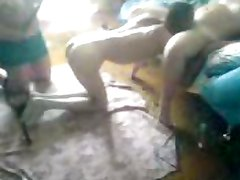 flogging amateur femdom two woman VS sub men