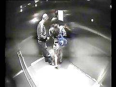 couple caught in elevator