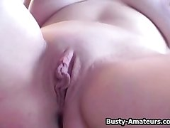 Busty Jennifer show her pussy on her first interview