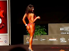 Denise Milani in a Fitness Competition - non nude
