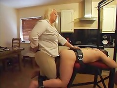 Strapon - Hot BBW Mistress Using Her Boytoy's Ass