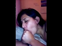 british indian wife blowjob cum in mouth