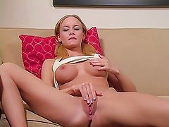 Blonde Dirty Talking Big Tit Fingering